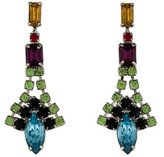 Tom Binns Multicolor Crystal Drop Earrings