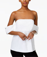 Bar III Strapless Poplin Top, Only at Macy's
