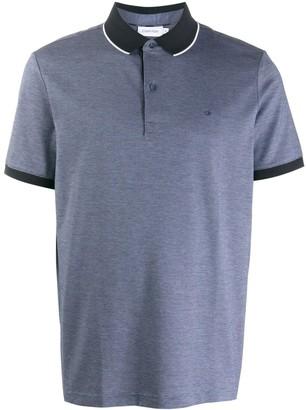 Calvin Klein Logo Short-Sleeve Polo Shirt