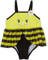Yellow & Black Bee Skirted One-Piece - Infant & Toddler