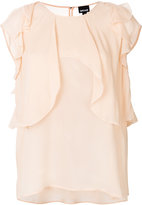 Just Cavalli sleeveless ruffle blouse