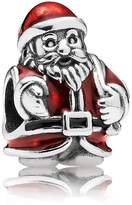 Pandora Red enamel Father Christmas silver charm