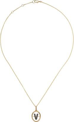 Annoushka 18kt yellow gold diamond V necklace
