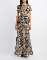Charlotte Russe Brocade Crop Top & Maxi Skirt Hook-Up