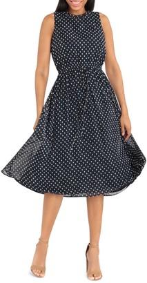 Maggy London Tie Waist Dress