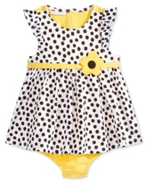 First Impressions Dot-Print Cotton Skirted Romper, Baby Girls (0-24 months)