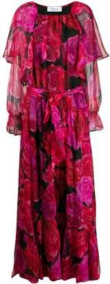 Blumarine rose print evening dress
