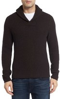 Men's Lanai Collection Shawl Collar Ribbed Wool & Cashmere Pullover