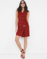 White House Black Market Petite Double-Breasted Trench Dress