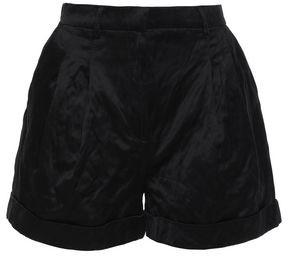 Philosophy di Lorenzo Serafini Pleated Crinkled-satin Shorts
