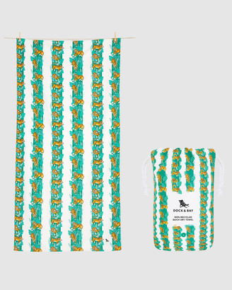 Dock & Bay Large Beach Towel 100% Recycled Jungle Collection