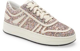 Jimmy Choo Hawaii Glitter Sneaker
