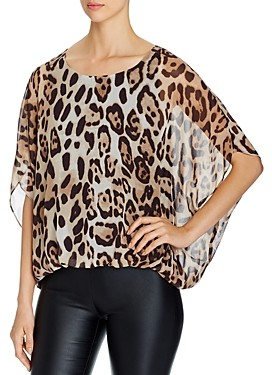 Vince Camuto Leopard Print Batwing Top - 100% Exclusive