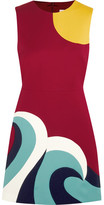 RED Valentino Paneled Cotton-cady Mini Dress
