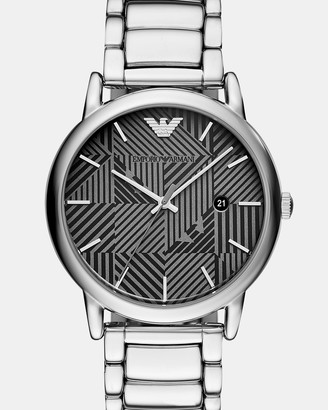 Emporio Armani Silver-Tone Analogue Watch