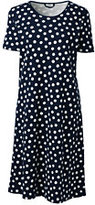 Classic Women's Short Sleeve Knee Nightgown-Light Pink