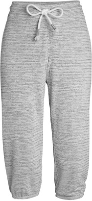 Andrew Marc Cropped Fleece Drawstring Joggers