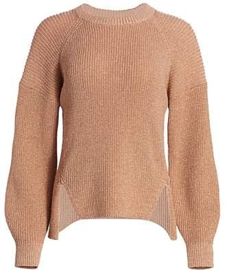 Joie Cicilia Metallic Balloon-Sleeve Sweater