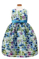 Sorbet Toddler Girl's Burnout Stripe Floral Party Dress