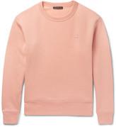 Acne Studios Fairview Fleece-back Cotton-jersey Sweatshirt - Pink