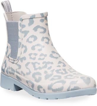Hunter Refined Leopard Chelsea Booties