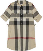 Burberry Darielle checked cotton shirt dress 4-14 years