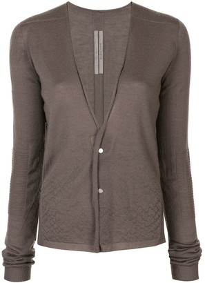 Rick Owens Ribbed Detail Cashmere Cardigan