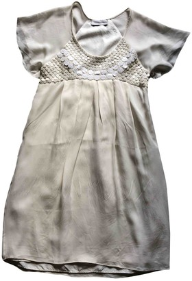Madame à Paris White Silk Dress for Women