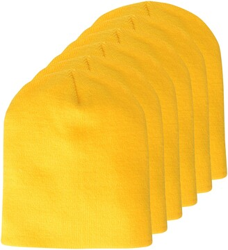 Clementine Apparel Men's CLM-AL-1500-Knit Beanie (6 PK)