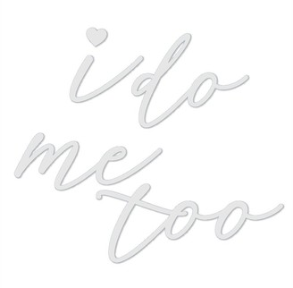 Style Me Pretty Shoe Decals I Do/Me Too