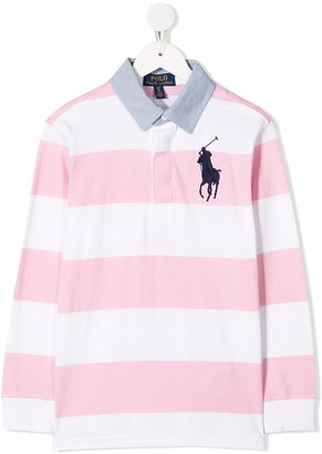 Ralph Lauren Kids Striped Rugby Polo Shirt