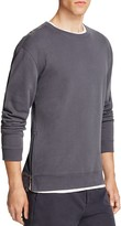 Vince French Terry Side Zip Sweatshirt