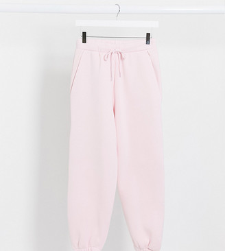ASOS DESIGN Petite co-ord oversized jogger in pink