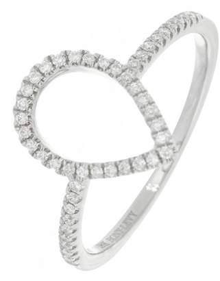 Bony Levy Audrey 18K White Gold Pave Diamond Pear Shape Ring - 0.12 ctw
