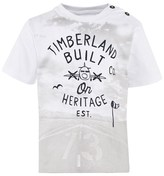 Timberland White Runway Print Tee