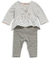 Catimini Baby's Two-Piece Rabbit Top & Reversible Pants Set