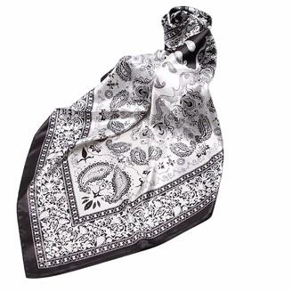 Fablcrew Women Silk Scarf Large Square Scarves Lightweight Neckerchief Wraps Fashion