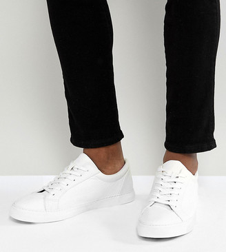 ASOS DESIGN Wide Fit trainers in white