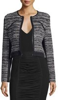 Diane von Furstenberg Caity Collarless Zip-Up Jacket