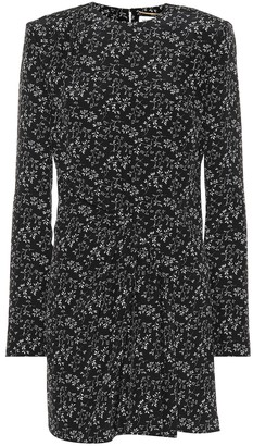Saint Laurent Floral-printed silk minidress