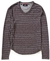 Buffalo David Bitton Horizontal Striped Long-Sleeve V-Neck Knit Tee