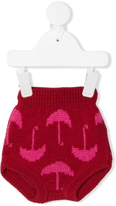 Bobo Choses Umbrella Print Knitted Shorts