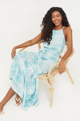 Ardene Maxi Tie-dye Ruffled Dress