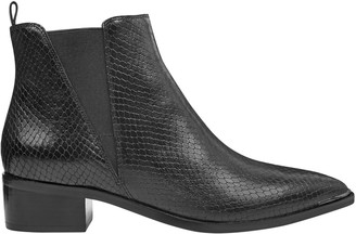 Marc Fisher Yale Snakeskin-Embossed Leather Chelsea Boots