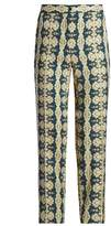 Etro Mosaic-print slim-leg trousers