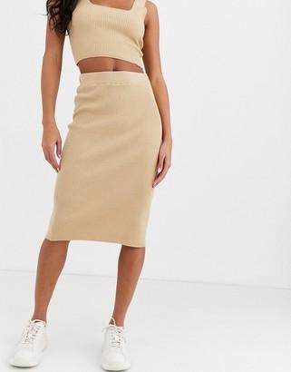 Asos DESIGN co-ord structured knit midi skirt