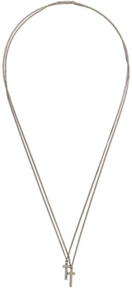 DSQUARED2 Silver Jesus Necklace