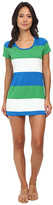 Tommy Bahama Bold Stripe Short T-Shirt Dress Cover-Up