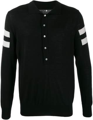 Hydrogen stripe-detail knitted-style polo shirt