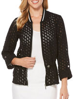 Rafaella Crepe Drawstring Jacket
